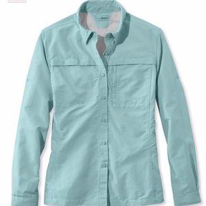 LL BEAN Tropicwear Shirt, Long-Sleeve